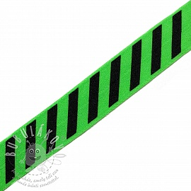 Szegőgumi STRIPE 20 mm green