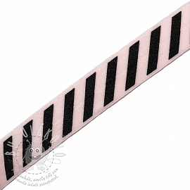 Szegőgumi STRIPE 20 mm light pink