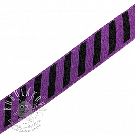 Szegőgumi STRIPE 20 mm purple