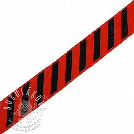 Szegőgumi STRIPE 20 mm red