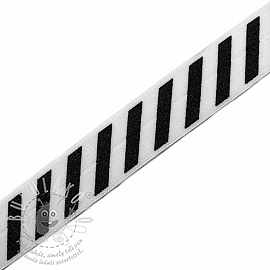 Szegőgumi STRIPE 20 mm white