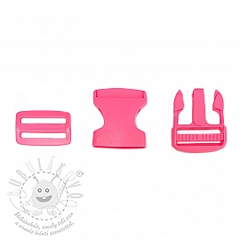 TUK csat 38 mm light fuchsia